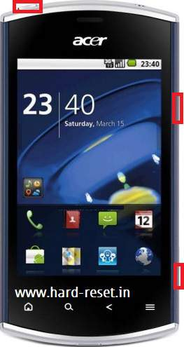 Acer Liquid mini e310 hard reset