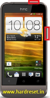 htc v one hard reset key